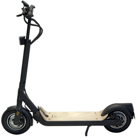 EGRET Ten V4 E-scooter, black/wooden footboard
